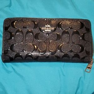Coach Patent Leather Puff Wallet